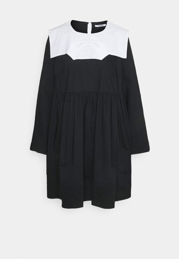 Day dress - base unita + stampa fondo nero
