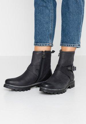 SALLY - Cowboy/biker ankle boot - black