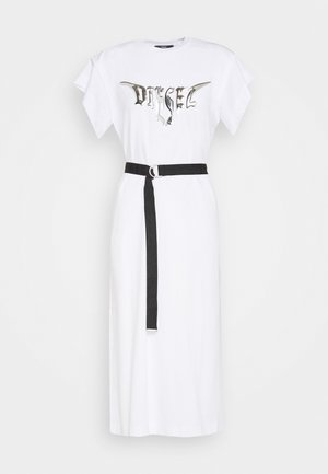 D-FLIX-C DRESS - Jersey dress - white
