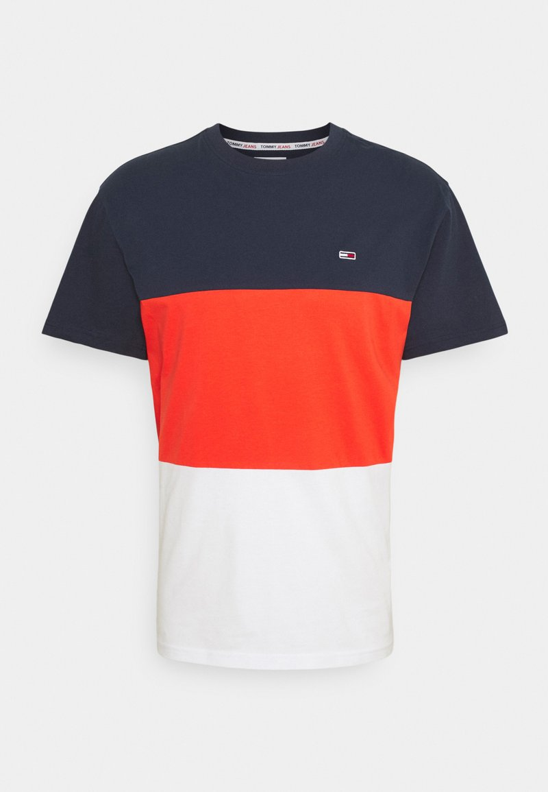 Tommy Jeans - CLASSIC COLOR BLOCK TEE - Printtipaita - horizon