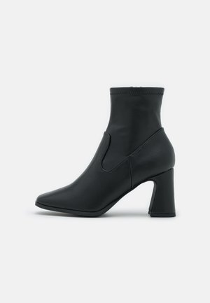 VEGAN SQUARE TOE BOOT - Bottines - black smooth