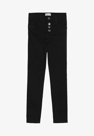 KONROSE BUTTON  - Straight leg jeans - black denim