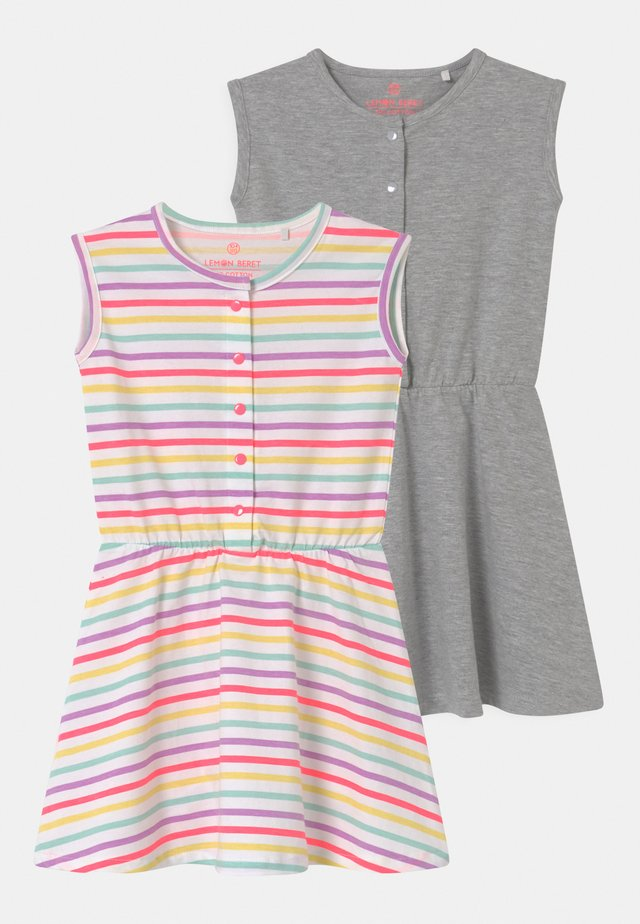 SMALL GIRLS 2 PACK - Jersey dress - optical white