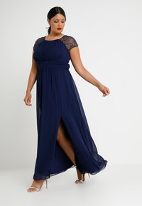 Little Mistress Curvy - CAP SLEEVES BALL GOWN - Robe de cocktail - navy - 1