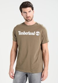 Timberland - CREW LINEAR  - Print T-shirt - capers - 0