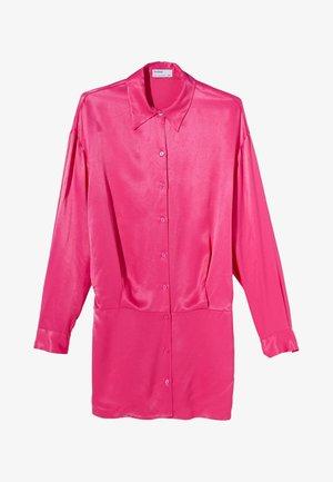 Shirt dress - neon pink