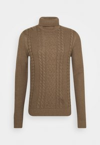 JJKIM ROLL NECK - Jumper - sepia tint