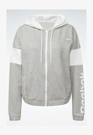 LINEAR LOGO FRENCH TERRY - Zip-up hoodie - grey