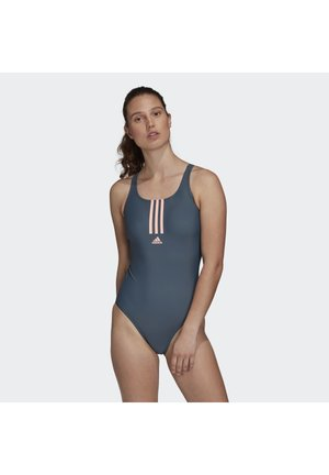 ADIDAS SH3.RO MID 3-STRIPES SWIMSUIT - Swimsuit - green