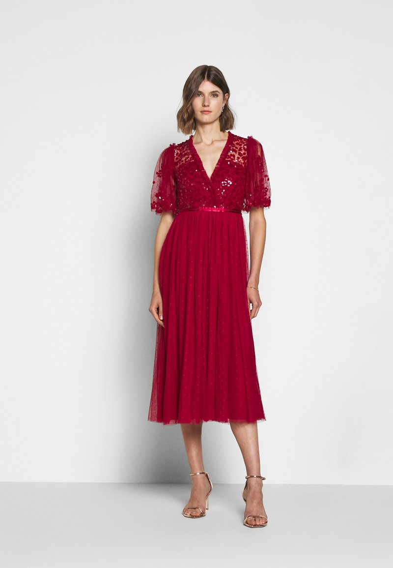 Needle & Thread - PATCHWORK BODICE BALLERINA DRESS EXCLUSIVE - Cocktail dress / Party dress - deep red