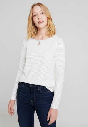 DOUBLE FACE - Long sleeved top - off white