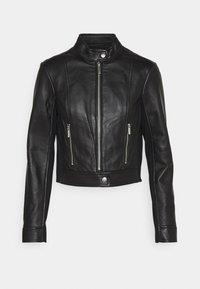 MICHAEL Michael Kors - PONTI COMBO - Leather jacket - black - 4