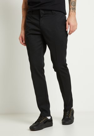872 SLIM FIT WORK PANT - Chino kalhoty - black