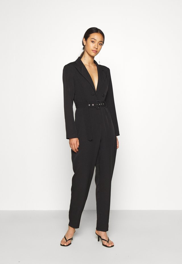 TAILORED BELTED - Mono - black
