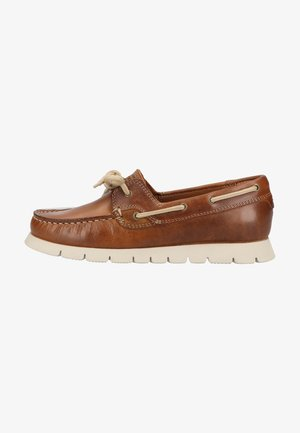Boat shoes - cognac c