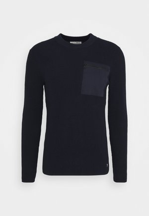 STRUCTURED CREW WITH POCKET - Maglione - sky captain blue