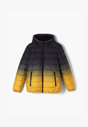 Winterjas - black/yellow gradient