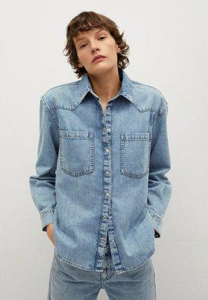 SIRA - Button-down blouse - azul medio