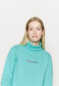 Champion - HIGH NECK ROCHESTER - Sweatshirt - turquoise