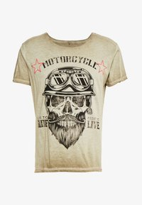 Key Largo - MT BEARDED BIKER - Print T-shirt - military green - 4