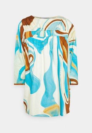 AGNETHE TUNIC - Tunic - desert/liquid blue