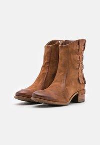 A.S.98 - Cowboy/biker ankle boot - calvados - 2