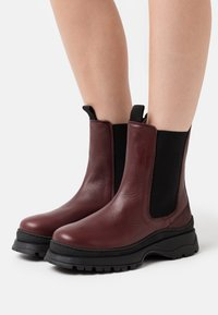 Selected Femme - SLFLUCY - Platform ankle boots - winetasting - 0