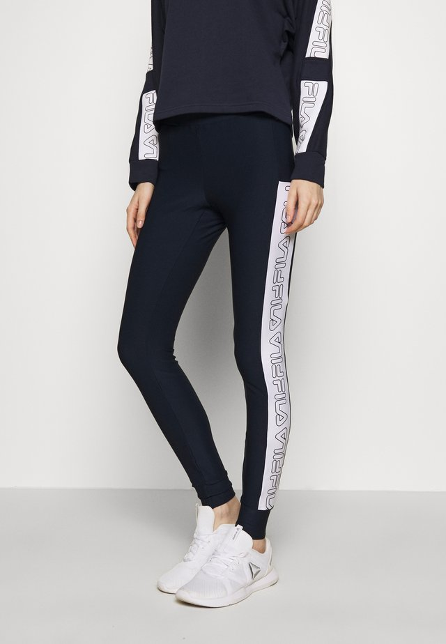 LARISSA LEGGINGS - Leggings - black iris/bright white