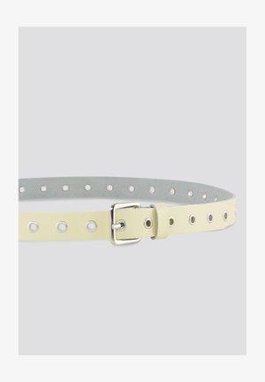 MIT LOCHNIETEN - Belt - light yellow