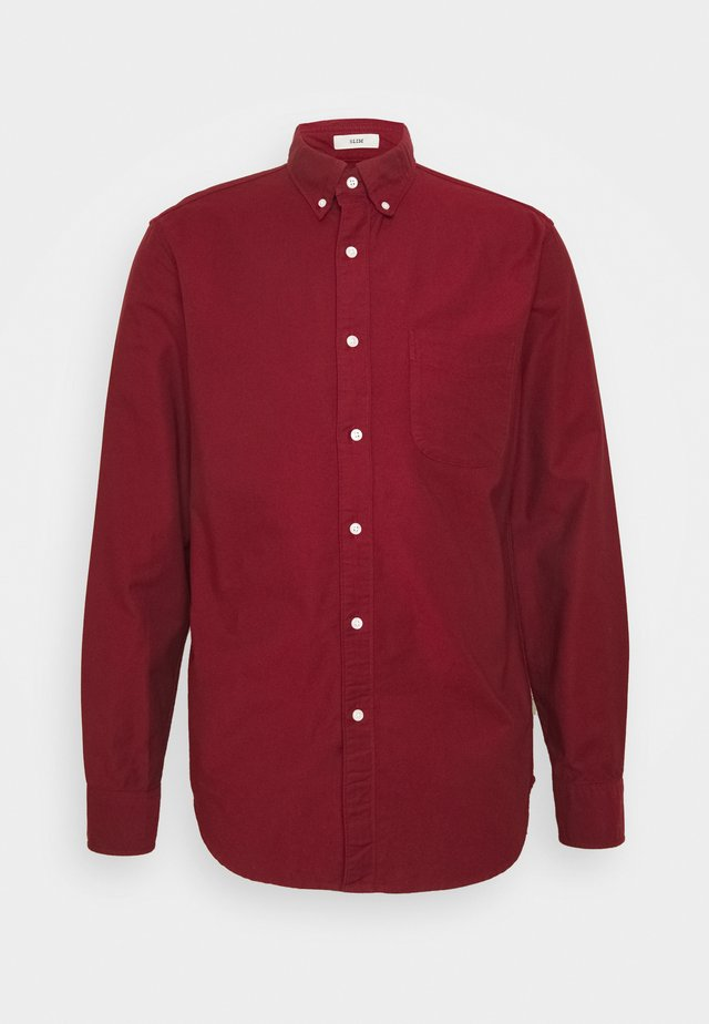 STRETCH OXFORD - Shirt - dark cranberry