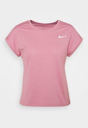 Basic T-shirt - elemental pink/white