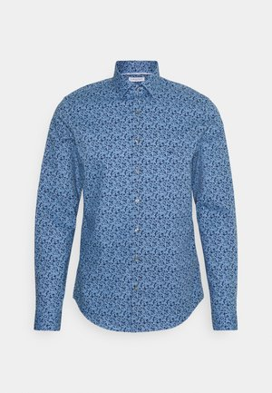 FLOWER SLIM SHIRT - Shirt - blue