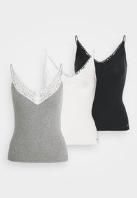 BARE CAMI 3 PACK - Top - white/grey/black
