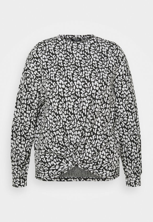 JACQUARD - Camiseta de manga larga - mono animal