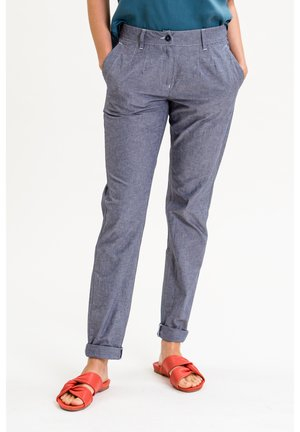 ALINAINA - Trousers - grau-blau meliert