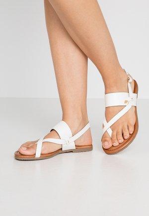 EVELINN - T-bar sandals - white