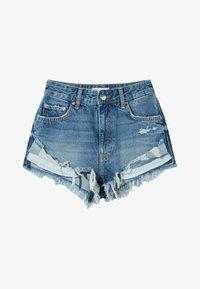 Bershka - Denim shorts - blue denim - 4