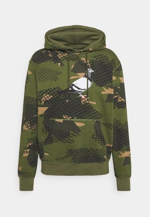 WIRE PIGEON HOODIE UNSIEX - Mikina s kapucí - olive