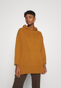 ONLY - ONLJENA LIFE LONG HOODIE - Huppari - glazed ginger - 0