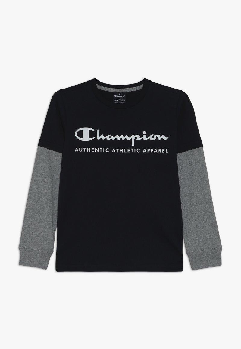 Champion - AMERICAN CLASSICS LONG SLEEVE CREWNECK  - Top sdlouhým rukávem - navy/greymelange