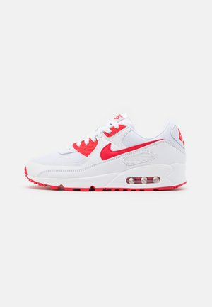 AIR MAX 90 - Sneakersy niskie - white/hyper red/black