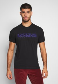 Napapijri - SOLANOS - T-shirt z nadrukiem - black - 0