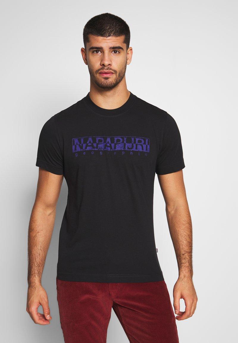 Napapijri - SOLANOS - T-shirt z nadrukiem - black