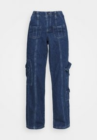 BDG Urban Outfitters - LOW RISE CARGO - Jeansy Straight Leg - blue - 3