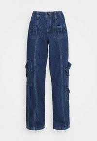 LOW RISE CARGO - Jeans straight leg - blue