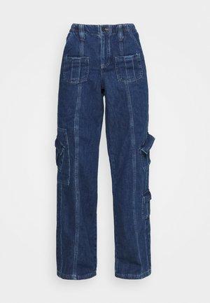 LOW RISE CARGO - Straight leg -farkut - blue