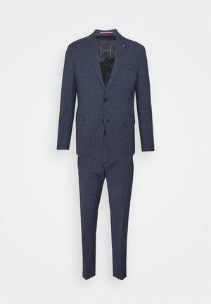 FLAP FULLY LINED VENTS FLAT FRONT TROUSER SET - Suit - blue