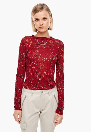 MIT ALLOVER-PRINT - Long sleeved top - brick red aop