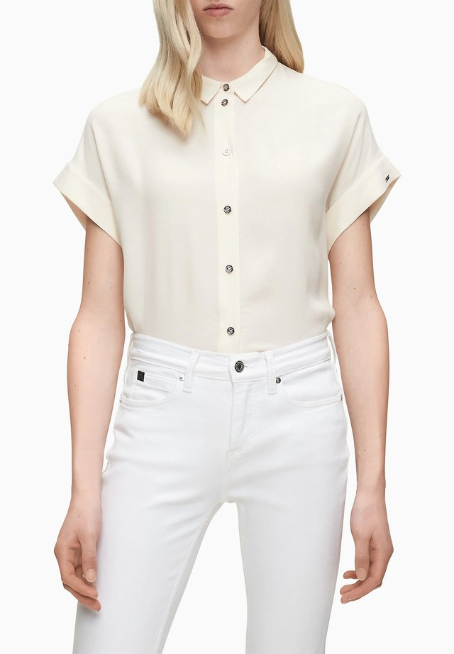 Button-down blouse - white smoke
