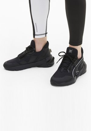 Sports shoes - puma black-metallic silver